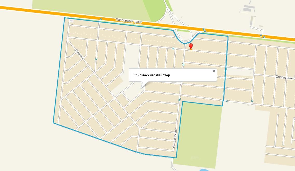 Карта Поселка Авиатор